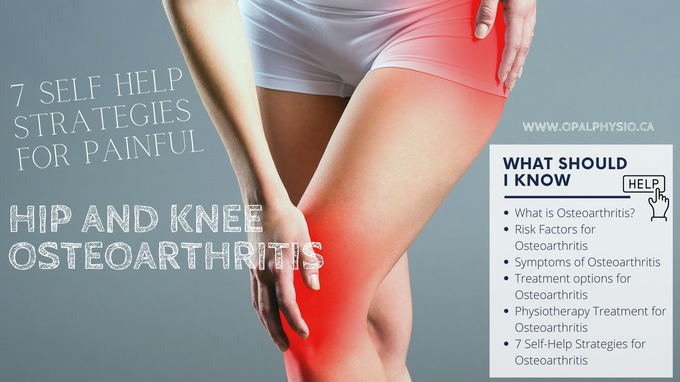 Osteoarthritis Hip and Knee Pain Physiotherapy