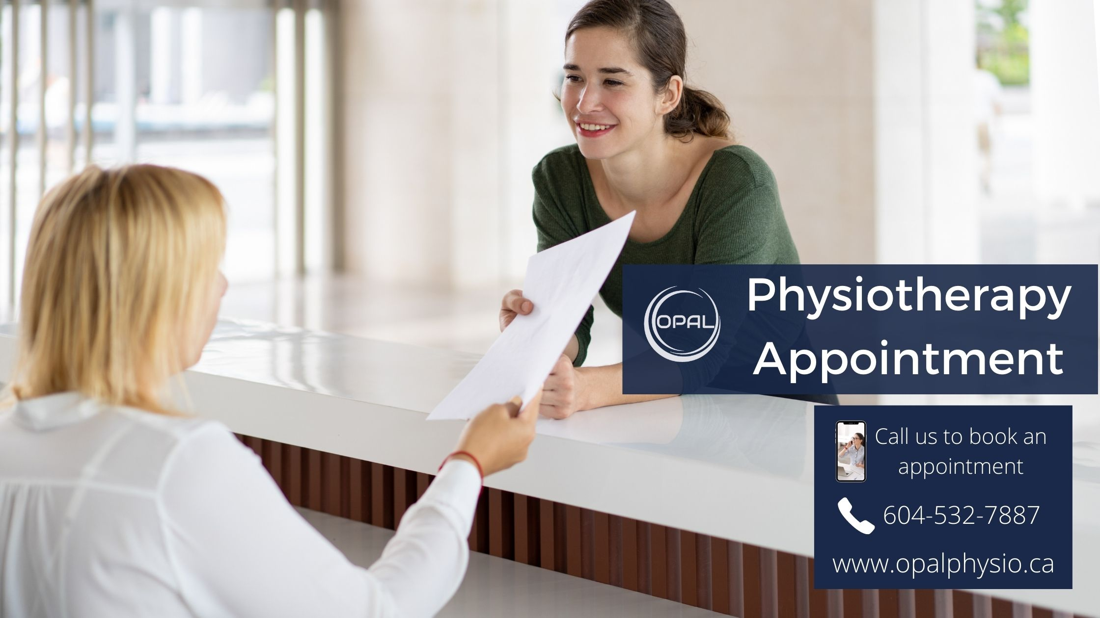 New Physiotherapy Booking Appointment